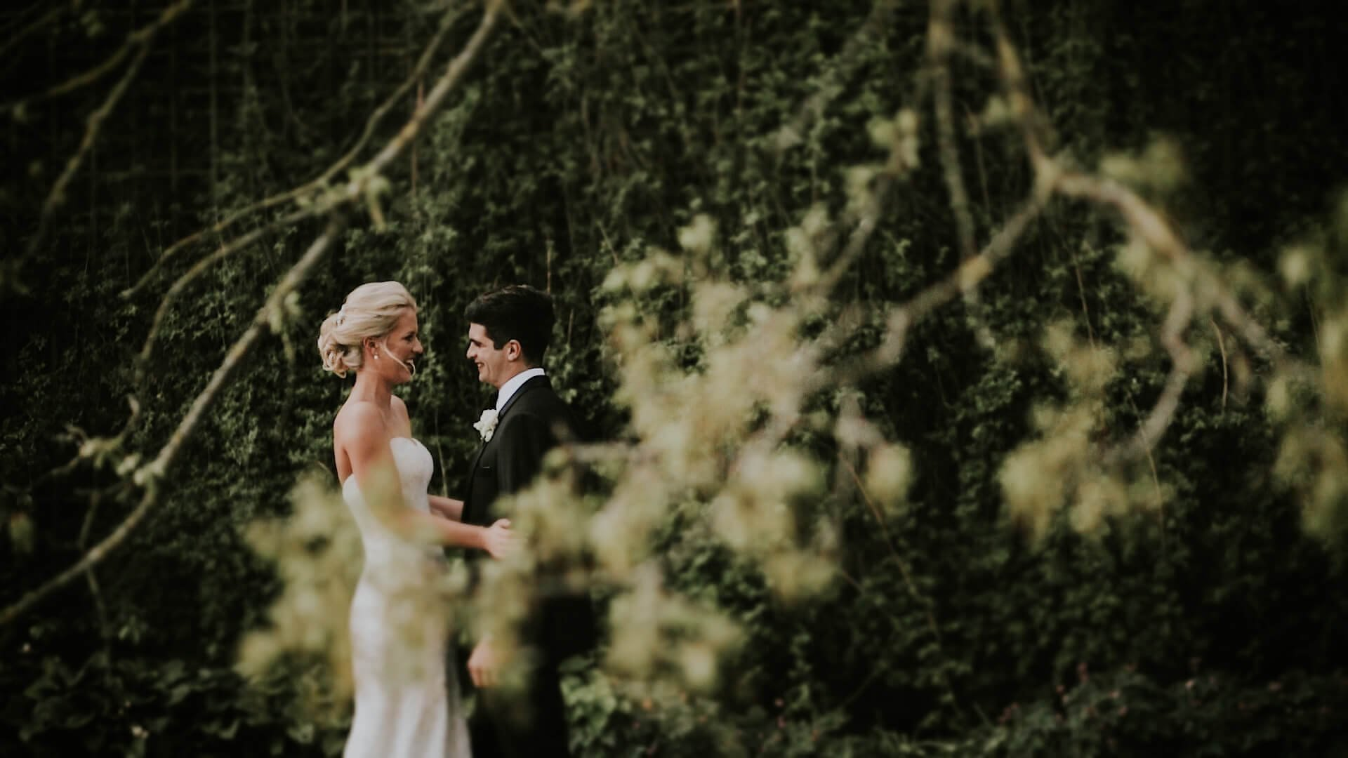 Couple on the Venue in Hassop Hall