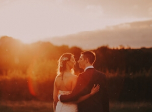 wedding videographer and their lovely rustic style
